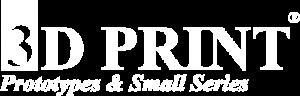 Logo 3D PRINT Blanc